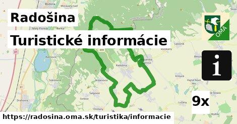 turistické informácie v Radošina