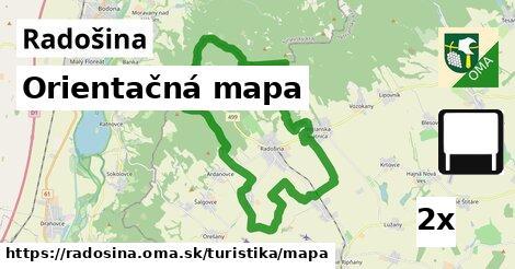orientačná mapa v Radošina