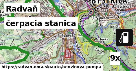 čerpacia stanica v Radvaň