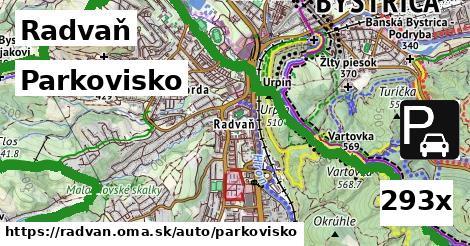 parkovisko v Radvaň