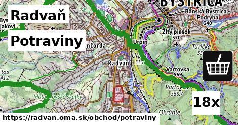 potraviny v Radvaň