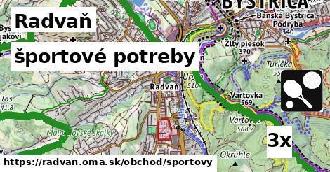 športové potreby v Radvaň