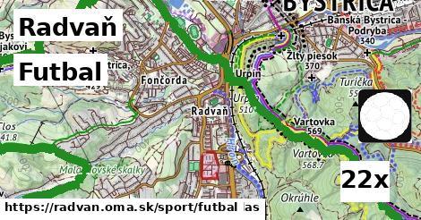 futbal v Radvaň