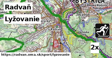 lyžovanie v Radvaň