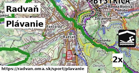 plávanie v Radvaň