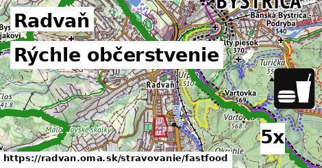 rýchle občerstvenie v Radvaň