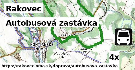 autobusová zastávka v Rakovec
