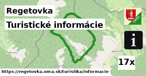 turistické informácie v Regetovka
