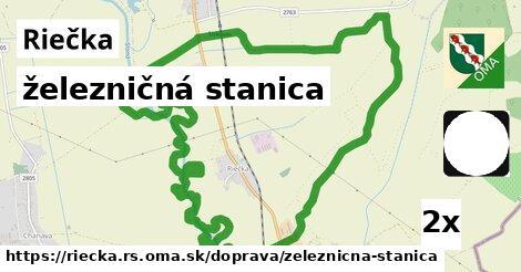 železničná stanica v Riečka, okres RS