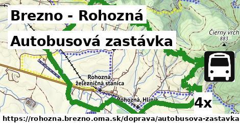 autobusová zastávka v Brezno - Rohozná