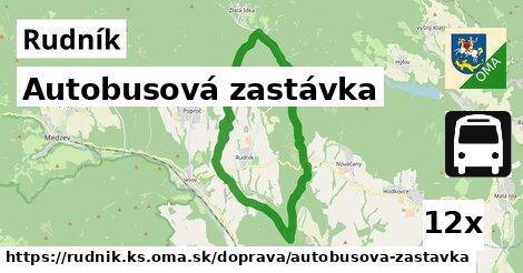 ilustračný obrázok k Autobusová zastávka, Rudník, okres KS