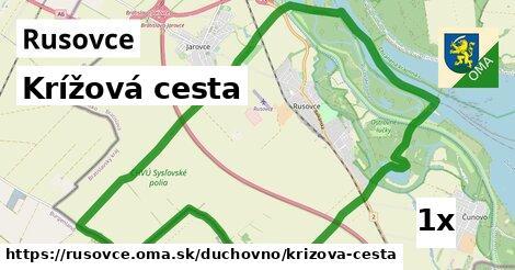 krížová cesta v Rusovce