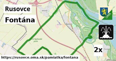 ilustračný obrázok k Fontána, Rusovce
