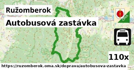 autobusová zastávka v Ružomberok