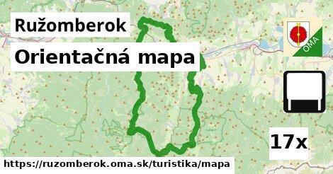 orientačná mapa v Ružomberok
