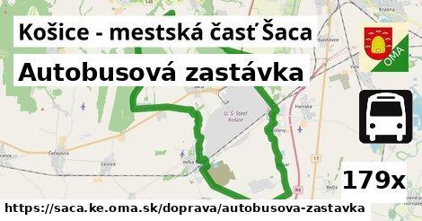 autobusová zastávka v Košice - mestská časť Šaca