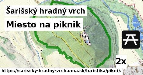 ilustračný obrázok k Miesto na piknik, Šarišský hradný vrch