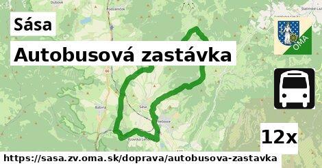 ilustračný obrázok k Autobusová zastávka, Sása, okres ZV