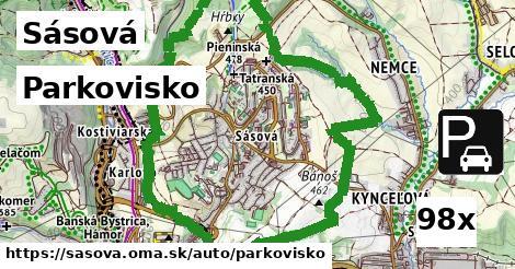 parkovisko v Sásová