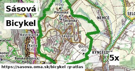 bicykel v Sásová