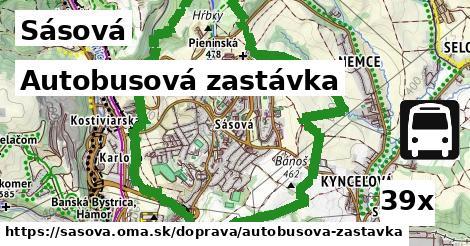 autobusová zastávka v Sásová