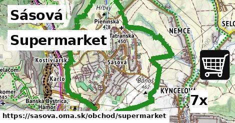 supermarket v Sásová