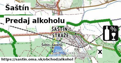 predaj alkoholu v Šaštín