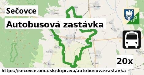 autobusová zastávka v Sečovce