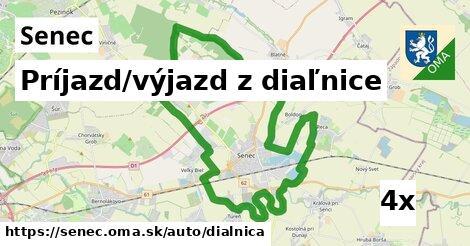 príjazd/výjazd z diaľnice v Senec