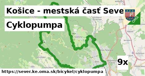 ilustračný obrázok k Cyklopumpa, Košice - mestská časť Sever
