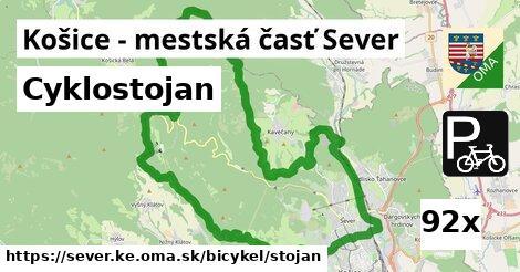 ilustračný obrázok k Cyklostojan, Košice - mestská časť Sever