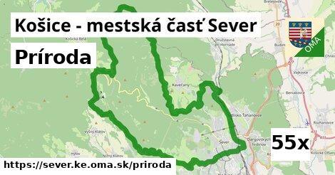 príroda v Košice - mestská časť Sever