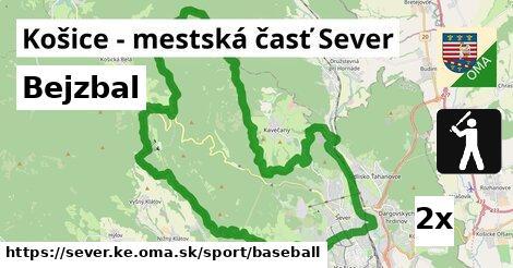 bejzbal v Košice - mestská časť Sever