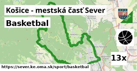 basketbal v Košice - mestská časť Sever