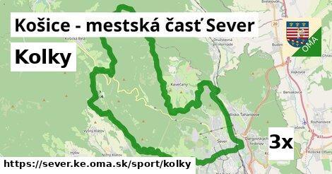 kolky v Košice - mestská časť Sever