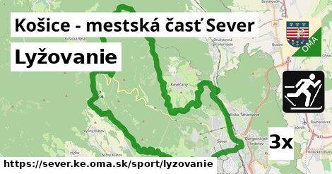 lyžovanie v Košice - mestská časť Sever