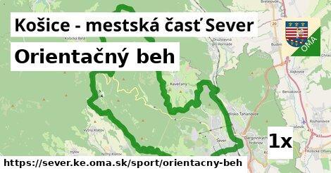orientačný beh v Košice - mestská časť Sever