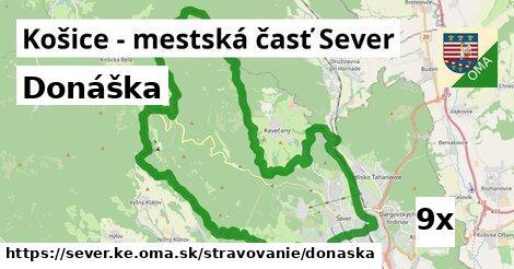 donáška v Košice - mestská časť Sever