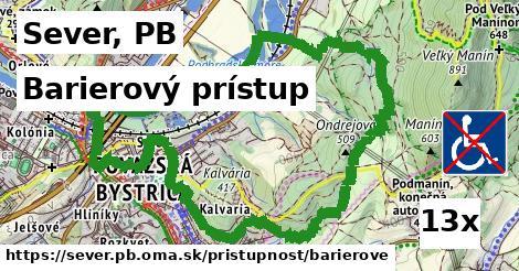 barierový prístup v Sever, PB