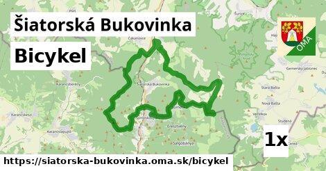 bicykel v Šiatorská Bukovinka