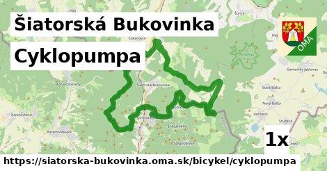 cyklopumpa v Šiatorská Bukovinka
