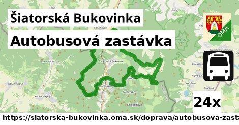 autobusová zastávka v Šiatorská Bukovinka