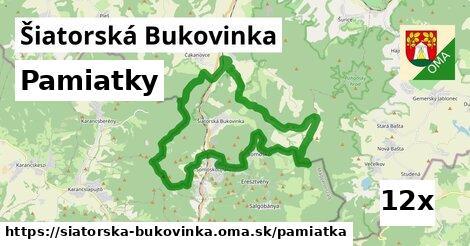 pamiatky v Šiatorská Bukovinka