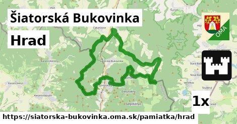 hrad v Šiatorská Bukovinka