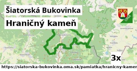 hraničný kameň v Šiatorská Bukovinka