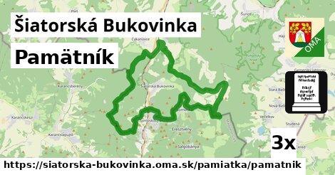 pamätník v Šiatorská Bukovinka