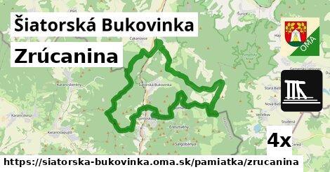 zrúcanina v Šiatorská Bukovinka