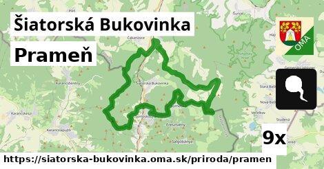 prameň v Šiatorská Bukovinka