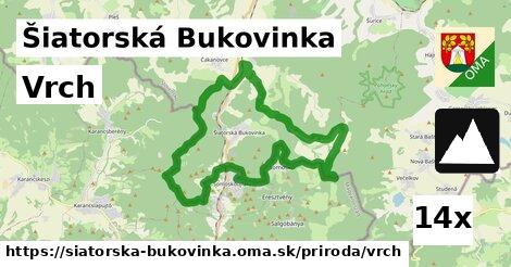 vrch v Šiatorská Bukovinka