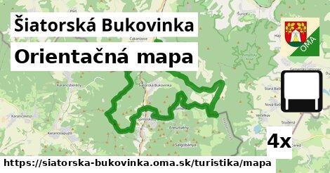 orientačná mapa v Šiatorská Bukovinka